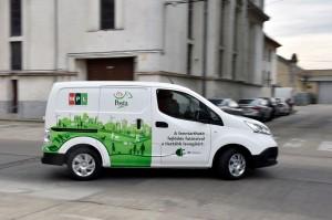 Elektromos autók a Postánál